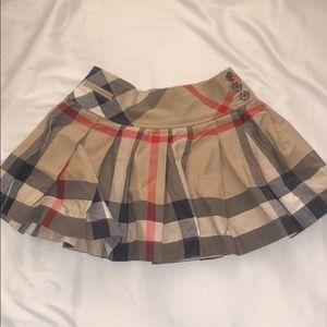 Burberry Children Beige Mini Skirt 4 Yrs